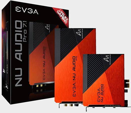 EVGA представила дискретные звуковые карты NU Audio Pro