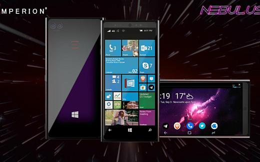 Emperion показала смартфон Nebulus, который может работать и с Android, и с Windows 10