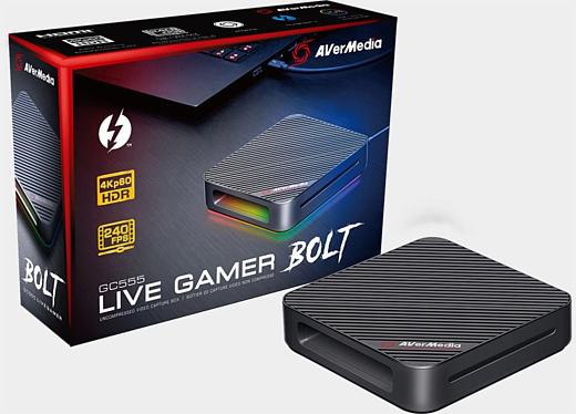 AVerMedia выпустила карту захвата Live Gamer Bolt, которая может записывать 4K60-видео