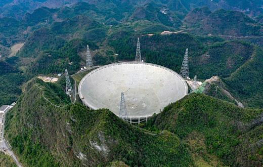 Китай будет искать внеземные цивилизации с помощью нового огромного радиотелескопа