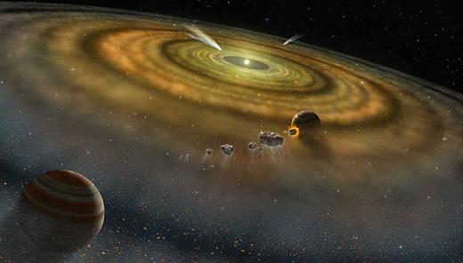 Ученые: Солнечная система сформировалась меньше, чем за 200 тысяч лет