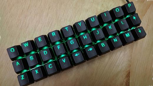 PiPi Gherkin — механическая клавиатура с 30 клавишами