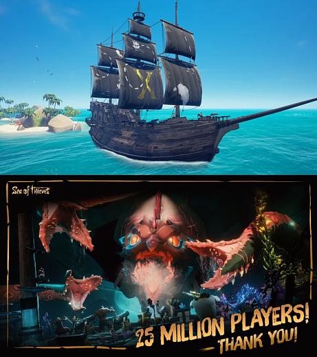 На «борту» Sea of Thieves уже 25 миллионов игроков