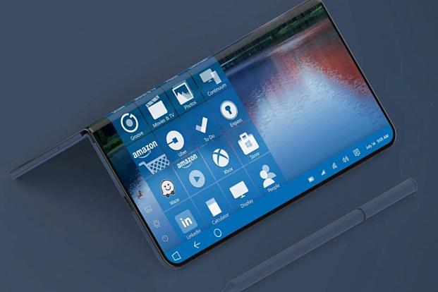 Microsoft запатентовала гибкий смартфон, похожий на Samsung Galaxy Fold
