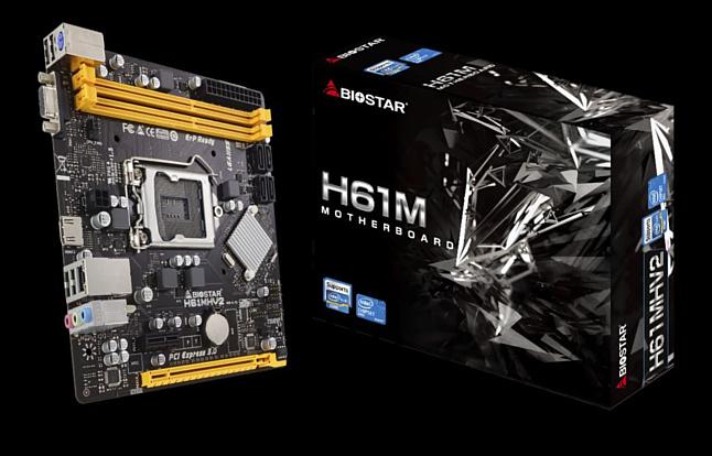 Biostar представила компактную материнскую плату на старом чипсете H61 — H61MHV2
