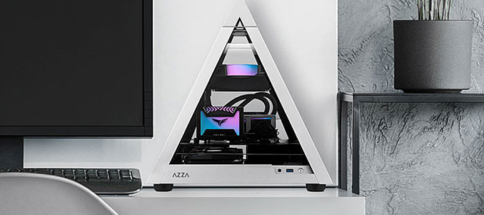 Azza Pyramid Mini 806 — необычный корпус для ПК в форме пирамиды