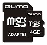 Qumo microSDHC class 6 4GB + SD adapter