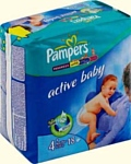 Pampers Active Baby 4+ Maxi Pluse (9-20 кг) 18 шт
