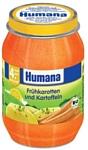 Humana  морковь с картофелем, 190 г