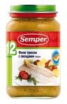 Semper Филе трески с овощами, 200 г