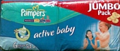 Pampers Active Baby 6 Extra Large (16+ кг) 54шт