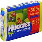 Huggies Ultra Comfort 3 (5-9кг) Mega Pack 80шт