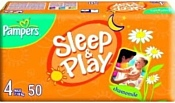 Pampers Sleep & Play 4 Maxi (7-18 кг) 50 шт