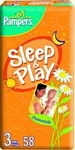 Pampers Sleep & Play 3 Midi (4-9 кг) 58 шт
