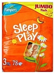 Pampers Sleep & Play 3 Midi (4-9 кг) Jumbo Pack 78 шт