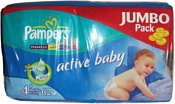 Pampers Active Baby 4+ Maxi Pluse (9-20 кг) Jumbo Pack 62 шт