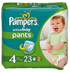Pampers Active Boy 4 Maxi (9-14 кг) 23 шт