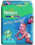 Pampers Active baby 4 Maxi (7-18 кг) 20 шт.