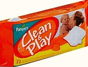Pampers Clean & Play, 72 шт
