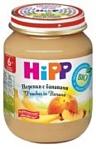 HiPP Бананы и персики в яблочном , 125 г