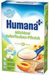 Humana Овсяная молочная с персиком, 250 г