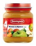 Semper Яблоко и абрикос, 135 г