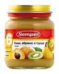 Semper Киви, абрикос и груша, 135 г