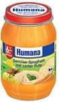 Humana Овощи с макаронами и индейкой, 190 г