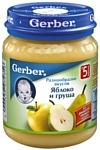 Gerber Яблоко, груша, 130 г