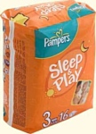 Pampers Sleep & Play 3 Midi (4-9 кг) 16 шт