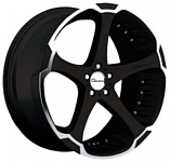 Giovanna Dalar 9x22/5x120 D74.1 ET38 Machined Black