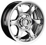 Racing Wheels H-154 7x15/5x139.7 d110.5 ET0 Silver