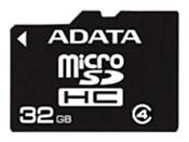 ADATA microSDHC Class 4 32GB + SD adapter