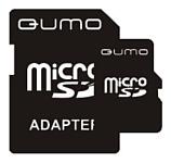 Qumo microSDHC class 4 4GB + SD adapter