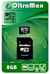 OltraMax microSDHC Class 4 8GB + SD adapter