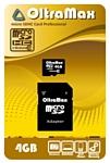 OltraMax microSDHC Class 10 4GB + SD adapter