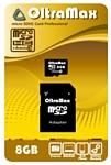 OltraMax microSDHC Class 10 8GB + SD adapter