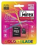 Mirex microSDHC Class 10 8GB + SD adapter