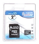 SmartBuy microSD 2GB + SD adapter