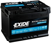 Exide Micro-Hybrid AGM EK700 (70Ah)