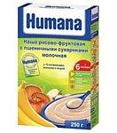 Humana Рисово-фруктовая молочная с пшеничными сухариками, 250 г