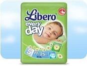 Libero Everyday 5 XL 11-25 кг 16 шт