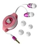 Ingo Devices Retractable Earphones (Hello Kitty)