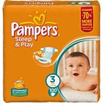 Pampers Sleep & Play 3 Midi (4-9 кг) 100 шт
