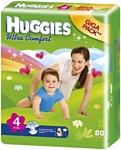 HUGGIES Ultra Comfort 4 (8-14 кг) Giga Pack 80 шт