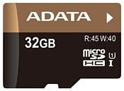 ADATA Premier Pro microSDHC Class 10 UHS-I U1 32GB + SD adapter
