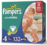 Pampers Active Baby 4 Maxi (7-18 кг) Mega Pack 132 шт