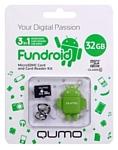 Qumo microSDHC class 10 32GB + Fundroid USB Card Reader