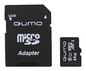 Qumo microSDXC Class 10 UHS Class 1 64GB + SD adapter