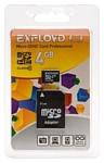 EXPLOYD microSDHC Class 10 4GB + SD adapter